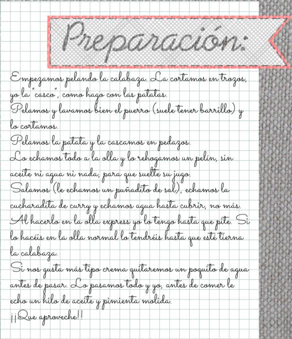 recetas preparación